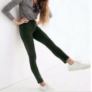 [Madewell] NWT Emerald Green High Rise Skinny